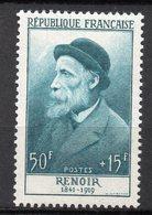 1955-- Personnages Célèbres-- RENOIR    N° 1032 .--NEUF--gomme Intacte--cote  36 €  .........à  Saisir - France