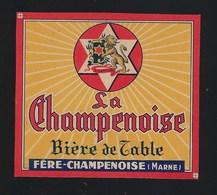 étiquette Bière De Table   Biere La Champenoise Fere Champenoise Marne - Beer
