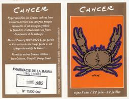 Calendrier °° 2006 - Pharma 11 Trèbes - Astro Cancer - 6x10 - Calendriers