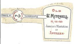 Etiquette Rhum Old St Michell Antilles Rare  ( Etat) - Rhum