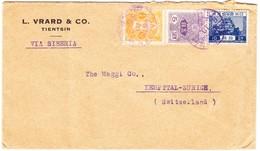 1934 Japanische Post In Dairen; Stempel Auf Drei Japanischen Marken; Brief An Die Maggi Fabrik Schweiz; - Autres