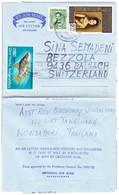1968 Aerogramm Aus Bangkok Aus Balgach Schweiz - Thaïlande