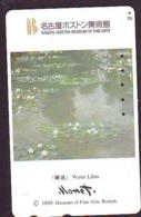 Télécarte JAPON  * PEINTURE FRANCE * CLAUDE MONET * ART * TK Gemälde (2031) Phonecard Japan * KUNST * SCHILDERIJ - Pintura