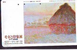 Télécarte JAPON  * PEINTURE FRANCE * CLAUDE MONET * ART * TK Gemälde (2034) Phonecard Japan * KUNST * SCHILDERIJ - Pintura