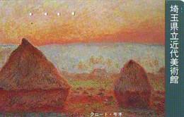 Télécarte JAPON  * PEINTURE FRANCE * CLAUDE MONET * ART * TK Gemälde (2035) Phonecard Japan * KUNST * SCHILDERIJ - Pintura