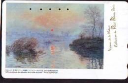 Télécarte JAPON  * PEINTURE * ART * CLAUDE MONET * TK Gemälde (2037) Phonecard Japan * KUNST * SCHILDERIJ - Pintura