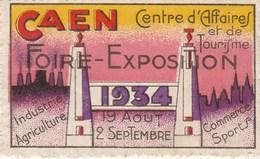 CAEN Centre D'affaires Et De Tourisme Foire Exposition 1934 - Commemorative Labels