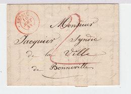 Sur LAC De Genève Pour Bonneville CAD Rouge Genève 1844. Taxe Manuscrite 2. C. Date Linéaire. (2413x) - Postmark Collection
