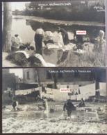 RAPALLO 2 Cartoline Vera Foto A.Testa ? C. 1905 LAVANDAIE Nel Torrente Boato E Nel Torrente S. Francesco No 595 E 607 - Andere Steden
