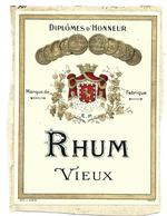 Etiquette Rhum Vieux - Rhum