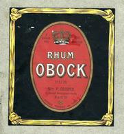 Etiquette RHUM O BOCK - Rhum