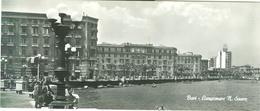 BARI -LUNGOMARE N.SAURO-B/N, ANIMATA,VIAGGIATA 1956, FORMATO MAXI 21 X 9, - Bari