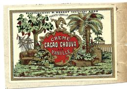 Etiquette Cacao Chouva BESSET à AGDE HERAULT - Rhum