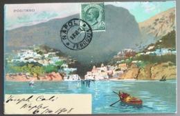 POSITANO Bei Colori Cartolina Lito Andata 1908 - Italia