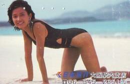 Télécarte Japon * EROTIQUE *  (6342)  * EROTIC PHONECARD JAPAN * TK * BATHCLOTHES * FEMME SEXY LADY LINGERIE - Mode