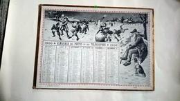 Calendrier Almanach Des Postes 1906  L'été L'hiver Signé E D - Calendari