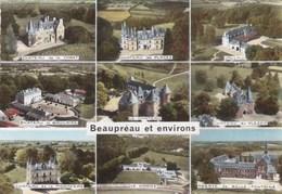 Carte 1960 BEAUPREAU ET ENVIRONS / CHATEAU LA BRULAIRE,LES PLACES,DE LA FORET,JALLAIS,DE LA MORINIERE... - France