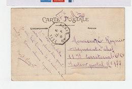 Sur CPA De Vogüe Ardéche En F.M. Cachet Ambulant Hexagonal Alais Au Teil 1911. (2419x) - Railway Post