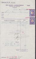 Denmark Perfin Perforé Lochung (L16) 'LB' Landmandsbanken, København 2x OPGØRELSES Mærke På Blanket 1919 (2 Scans) !! - Abarten Und Kuriositäten