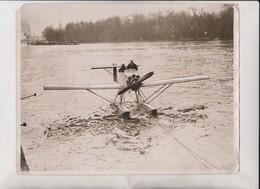 NEW HYDROPLANE FOR SUBMARINES PARIS SEINE MIDGET    25*20 CM Fonds Victor FORBIN 1864-1947 - Aviación