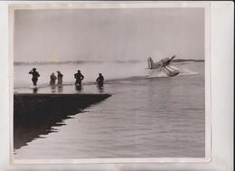SCHNEIDER TROPHY RACE CALSHOT ITALY  SUPERMARINE NAPIER   25*20 CM Fonds Victor FORBIN 1864-1947 - Aviación