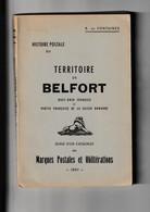 HISTOIRE POSTALE DU TERRITOIRE DE BELFORT - 1961 - Filatelie En Postgeschiedenis