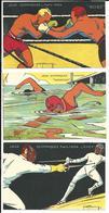 CPA Jeux Olympiques Paris 1924 - Sport - Illustrateur H.L  Roowy - Série Complète Neuve - Kolarsine - Pautauberge - France