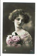 CPA - Carte Postale -Belgique - Jeune Fille Avec Un Bouquet-1911 -VM3843 - Women