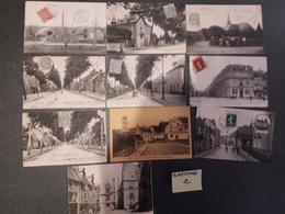 SARTHE Lot 2 -- 10 Cartes Anciennes Humoristiques - Autres Communes