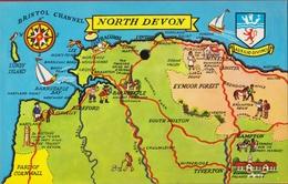 QSL Card Amateur Radio Funkkarte North Devon Bidefort Lundy Island Tiverton Barnstaple Bampton 1979 St. Denijs Westrem - Radio Amateur