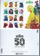USA. Scott #  MNH Sheet Of 16. Sesame Street 50th Anniv.  2019 - Feuilles Complètes