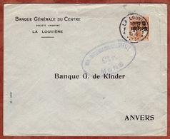 Landespost In Belgien, Germania, La Louviere Nach Anvers, Zensur Mons 1916 (75505) - Besetzungen 1914-18