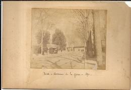 NICE . AVENUE DE LA GARE . 1890 - Lieux