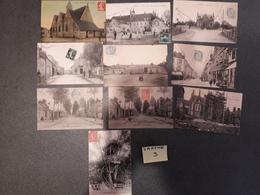 SARTHE Lot 3 -- 10 Cartes Anciennes Humoristiques - Autres Communes