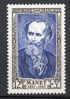 1952-- Personnages Célèbres --MANET   N° 931 .--NEUF--gomme Intacte--cote  8.50 €  .........à  Saisir - France