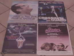 LOT 4 AFFICHES CINEMA FILMS JACK NICHOLSON SORCIERES D'EASTWICK CROSSING GUARD TENDRES PASSIONS TBE - Posters