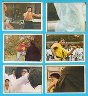 BRUCE LEE - Yugoslav Lot Of 6. Vintage Trading Cards * Jeet Kune Do Kung-Fu Karate Martial Arts China Hong-Kong Film - Cinema & TV