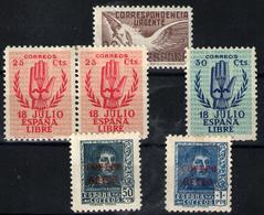 España Nº 852/3, 832, 845/6. Año 1937/38 - 1931-50 Neufs