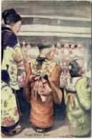 Illustrateur : Mortimer Menpes. Japan-British Exhibition, 1910. Oilette. Sugar Water Stall. - Illustrateurs & Photographes
