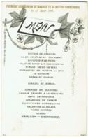 Menu. Communion De Maurice Et Bertha Vandenhove. 1887. Huitres, Filets De Sole...... - Menus