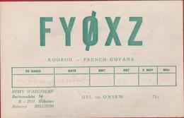 QSL Card Amateur Radio Funkkarte French Guyana Kourou 1978 Remy Waegemen Hoboken - Radio Amatoriale