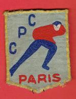 INSIGNE TISSU BRODE ANCIEN CLUB DE PATINAGE COMPETITION ARTISTIQUE PARIS EN BON ETAT - Skating (Figure)