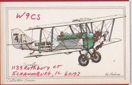 QSL Card Amateur Radio Funkkarte 1981 Varney Air Lines Swallow Biplane Avion Vliegtuig Tweedekker US Mail Ray Andersen - Radio Amatoriale