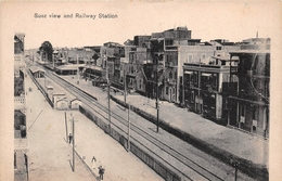 ¤¤   -    EGYPTE   -   SUEZ   -    View And Railway Station    -   ¤¤ - Suez