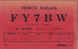 QSL Card Amateur Radio Funkkarte French Guyana Cayenne 1981 - Radio Amatoriale