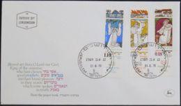 ISRAEL 1973 Mi-Nr. 593/95 FDC - FDC