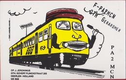QSL Card Amateur Radio Funkkarte Gerardmer Trein Train 1997 Heerlen Holland Nederland Estartit Costa Brava - Radio Amatoriale