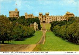 England Windsor Castle From The Long Walk - Windsor Castle