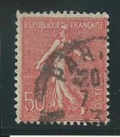 FRANCE: Obl., N° YT 199f, Rouge, T.III, TB - 1903-60 Säerin, Untergrund Schraffiert