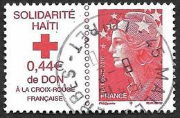 FRANCE 2010  - Y&T 4434 - Solidarité Haiti  - Cachet - France